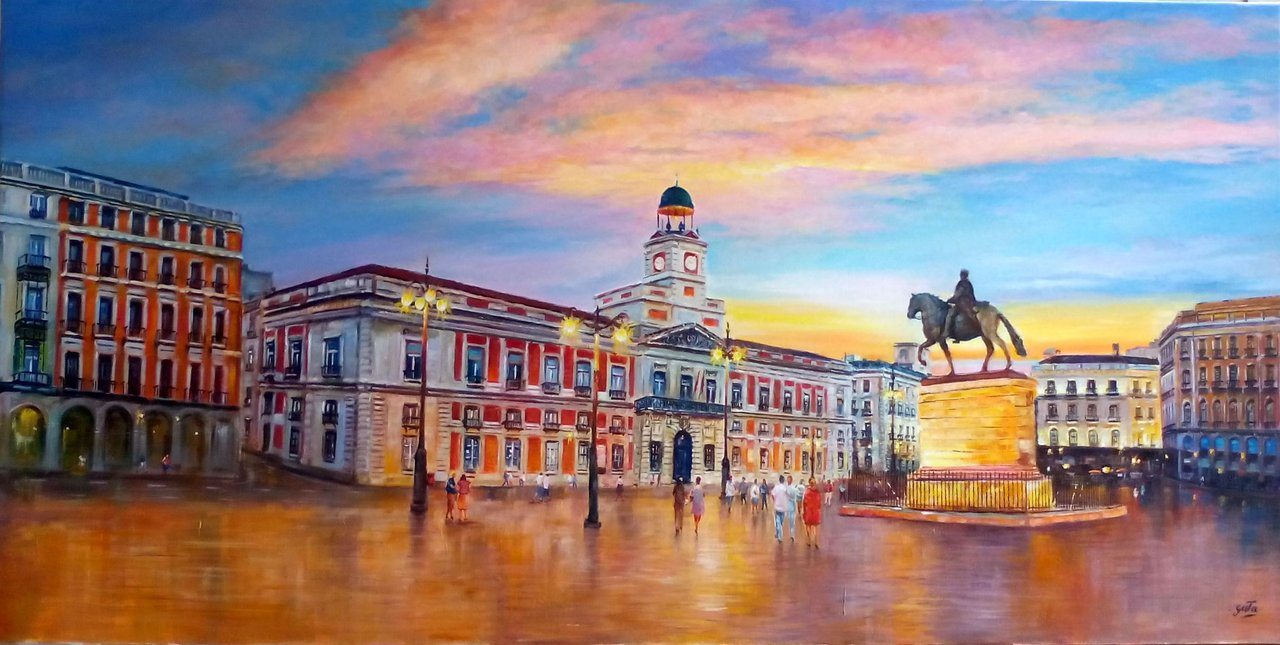 Buy picture puerta del sol jos luis gata artistic painter for Puerta de sol
