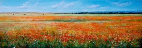 SKYLINE OF POPPIES